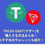 TRC20-USDT(テザー)を購入する方法まとめ!おすすめのウォレットも紹介!