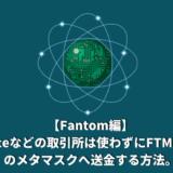 【Fantom編】Binanceなどの取引所は使わずにFTMチェーンのメタマスクへ送金する方法。Anyswapを使用してみた